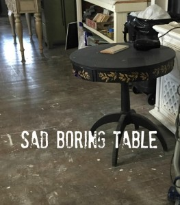 sad table