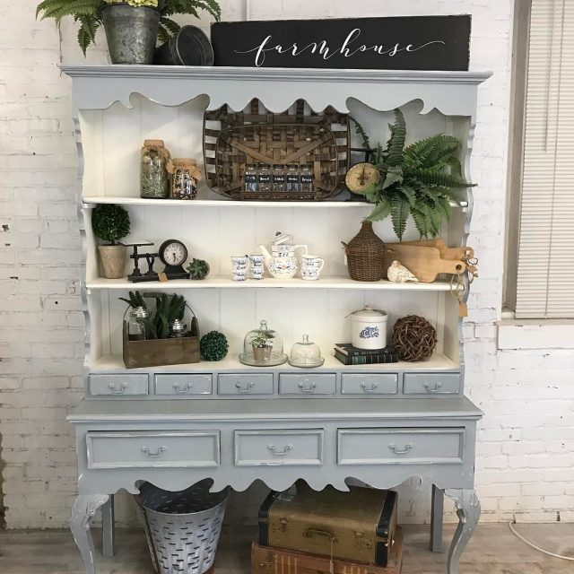 Loving this hutch painted in a special mix using Chalkhellip